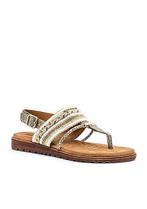 Good Choice Letty Beaded Thong Cushioned Sandal