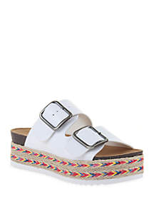 TRUE CRAFT Poppie Espadrille Flatform Sandals