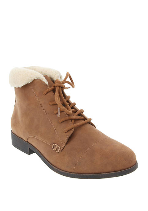 Claudette 2 Lace Up Ankle Booties