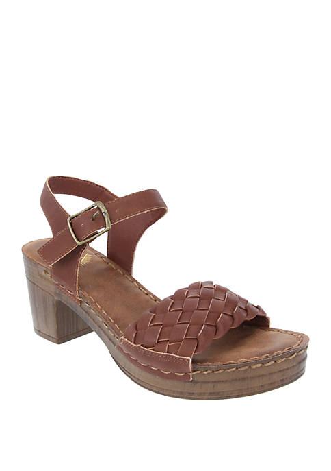 Rizo Wooden Block Heel Sandals