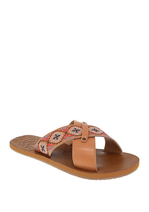 Sage Cross Band Sandals
