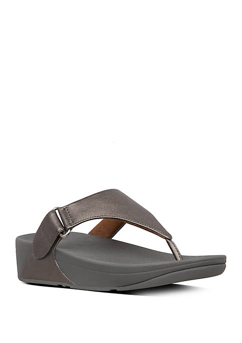 FitFlop Sarna Leather Toe Thong Sandals