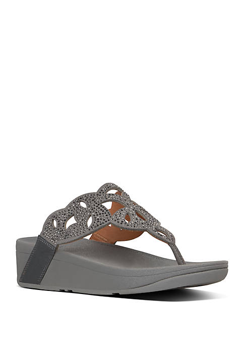 FitFlop Elora Crystal Toe Thong Sandals
