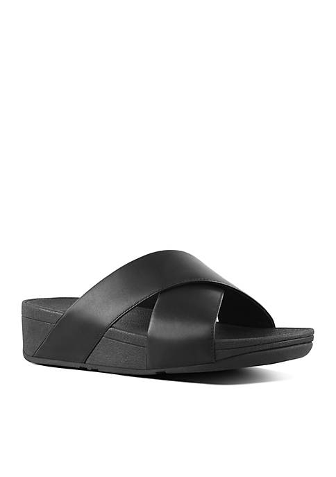 FitFlop Lulu™ Leather Cross Slide Sandals