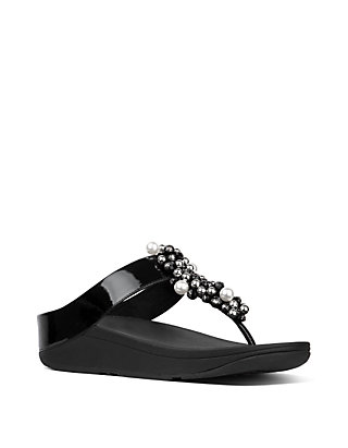 1df13a1e9 FitFlop Deco™ Pearlised Patent Toe Thong Sandals