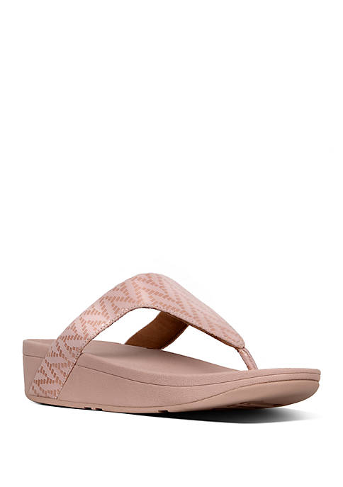 FitFlop Lottie™ Chevron Suede Toe Thong Sandals