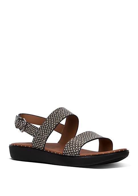 Barra™ Dotted Snake Leather Back Strap Sandals