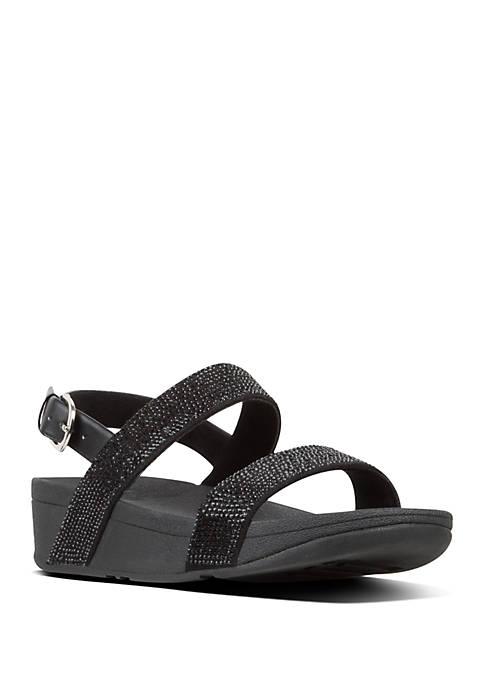 Lottie™ Shimmer Crystal Back Strap Sandals