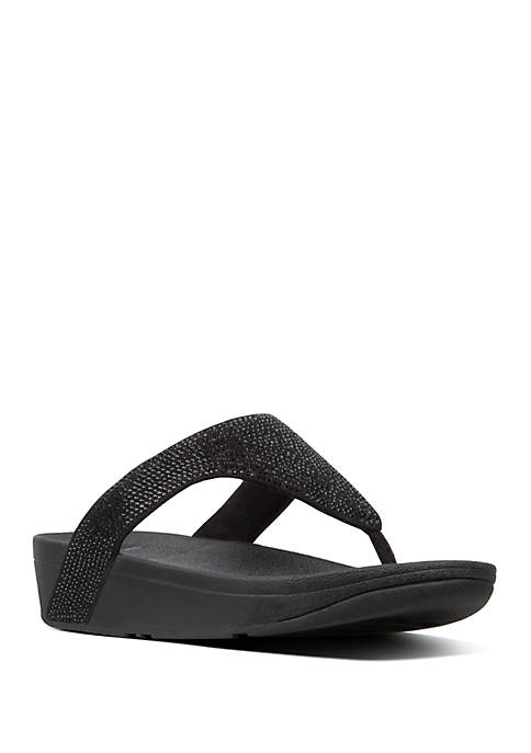 FitFlop Lottie™ Shimmer Mesh Toe Thong Sandals