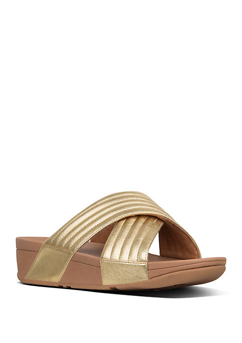 FitFlop Lulu™ Padded Cross Slide Sandals