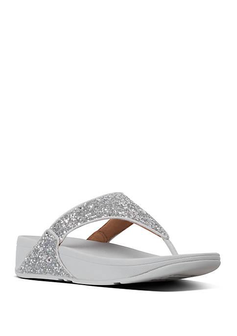 FitFlop Lulu Glitter Toe Thong Sandals