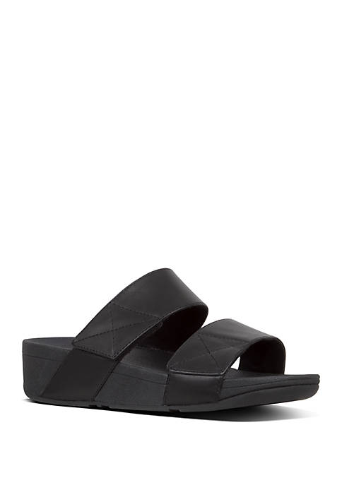 FitFlop Mina Leather Slide Sandals