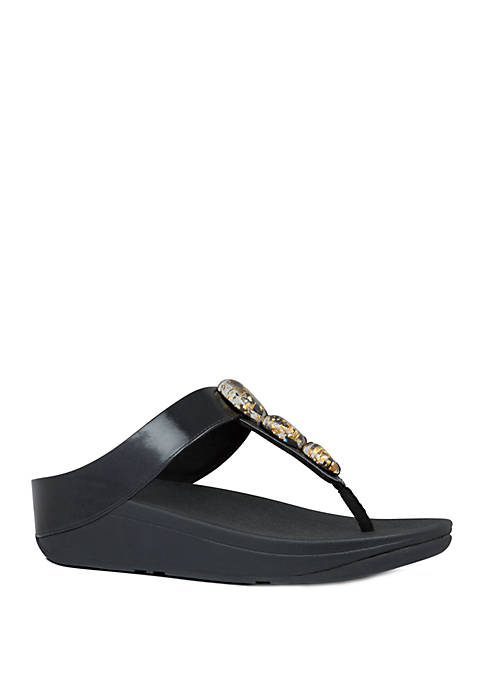 FitFlop Fino Metallic Fleck Stone Toe Thong Sandals