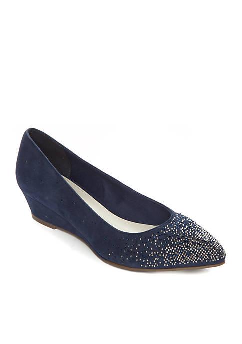 Anne Klein Ellery Embellished Wedge Shoes