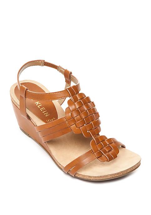 Anne Klein Tilly Woven Wedge Sandals