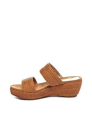 615ab475b78c ... Anne Klein Zala Woven Side Wedge Sandals ...