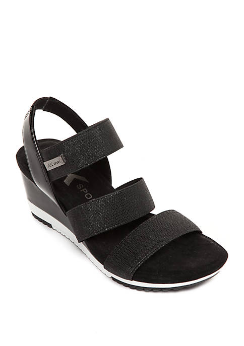 Anne Klein Summertime Sport Wedge Sandals