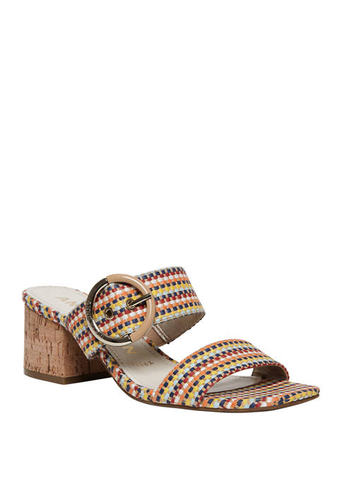 Anne Klein Beale Double Band Slide Sandals