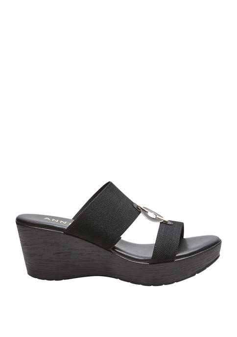 Anne Klein Hayda Wedge Slide Sandals