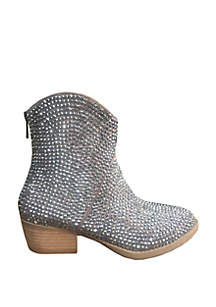Blinged Out Western Bootie
