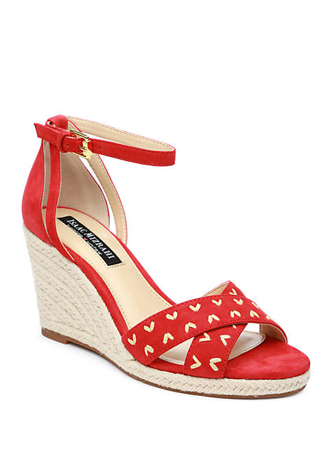 Isaac Mizrahi Mary Espadrille Wedge Sandals