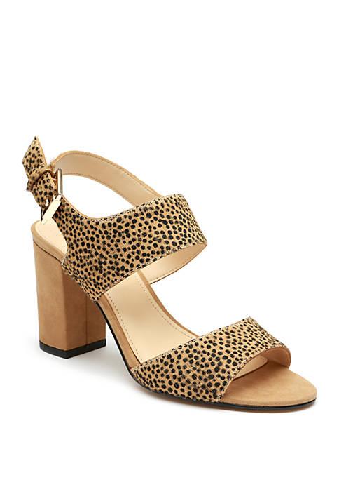 Isaac Mizrahi Alison Block Heel Sandals