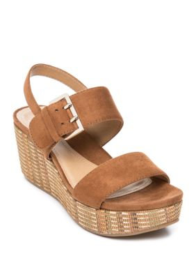 New Directions Womens Jazlene Wedge Sandals