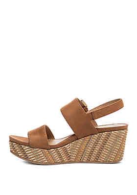 18c58d40ae7 New Directions® Jazlene Wedge Sandals New Directions® Jazlene Wedge Sandals.  Cognac. Black