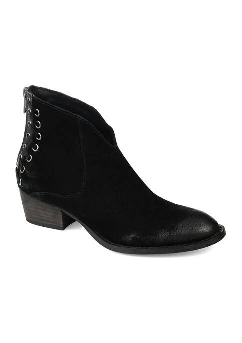 Journee Collection Genuine Leather Arika Booties