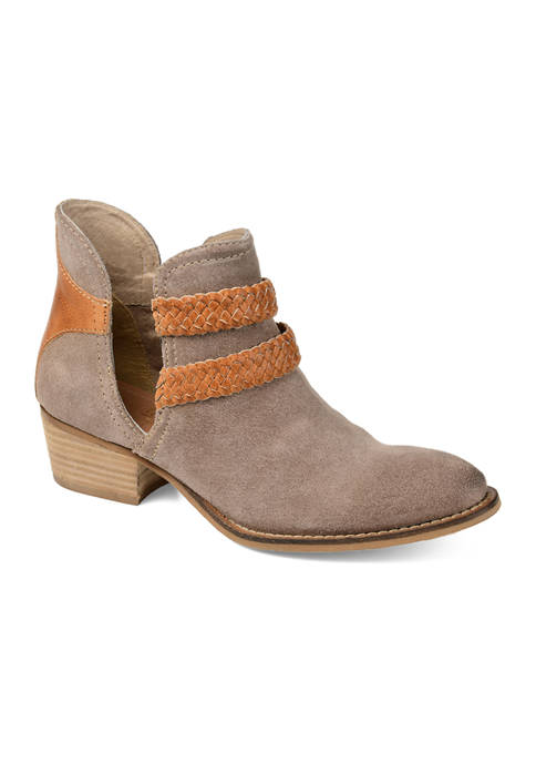 Journee Collection Genuine Leather Bernice Booties