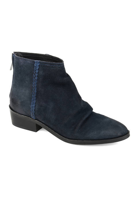 Journee Collection Genuine Leather Bree Booties