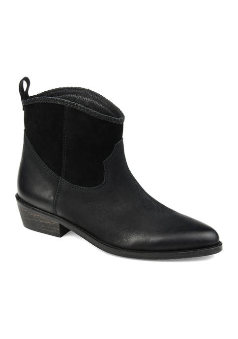 Journee Collection Genuine Leather Carmela Booties
