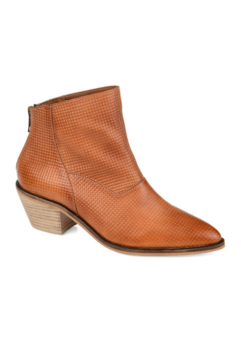 Journee Collection Genuine Leather Cassie Booties
