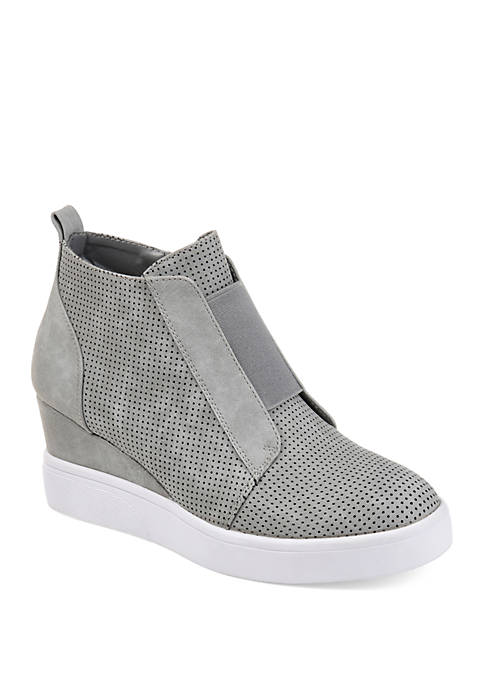Journee Collection Clara Wedge Fashion Sneakers