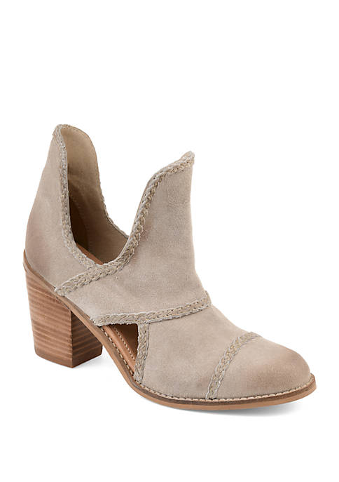 Journee Collection Genuine Leather Courtny Booties