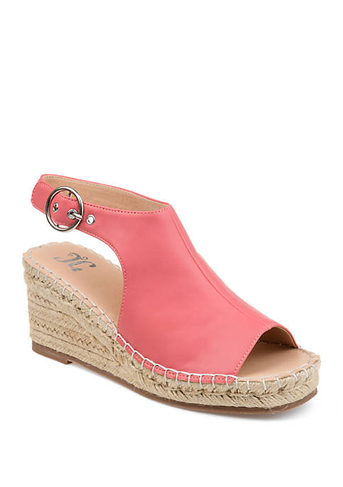 Journee Collection Crew Wedge Sandals