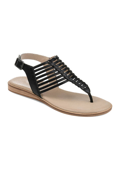 Journee Collection Genuine Leather Davis Sandals