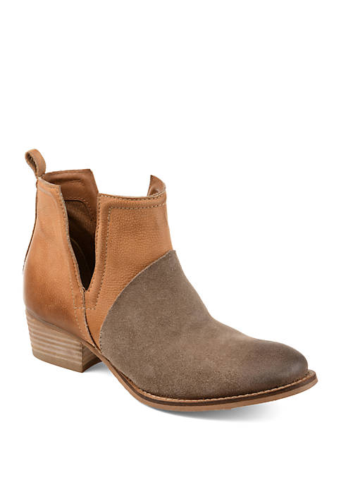 Journee Collection Genuine Leather Dempsy Booties