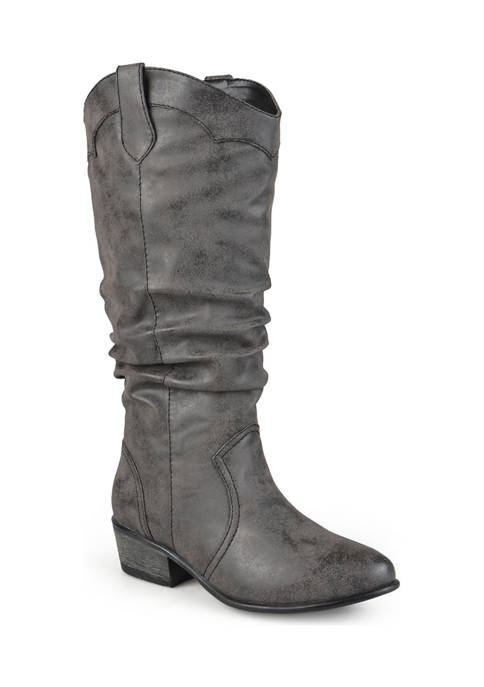 Journee Collection Drover Wide Calf Boots