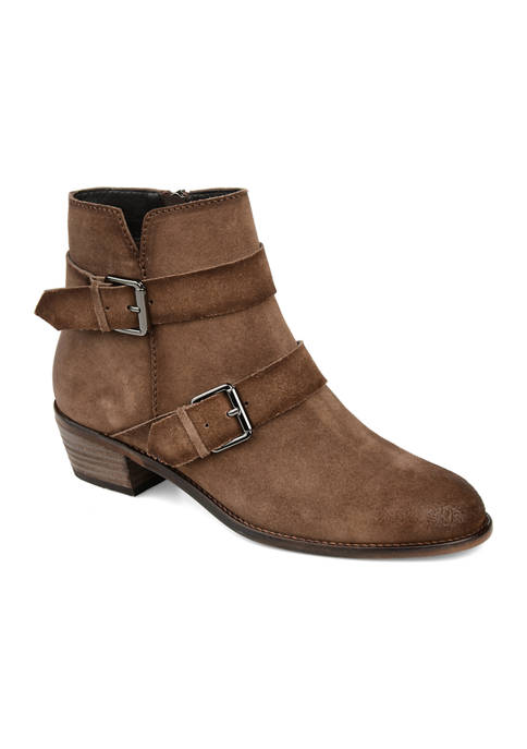 Journee Collection Genuine Leather Errin Booties