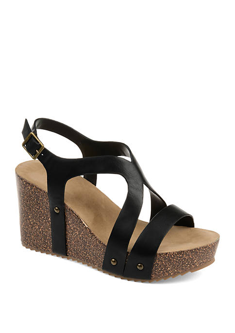 Journee Collection Geneva Wedge Sandals