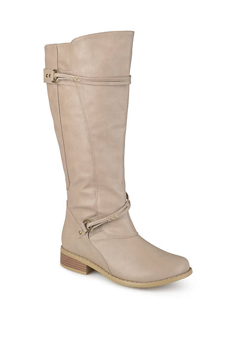 Journee Collection Wide Calf Harley Boots