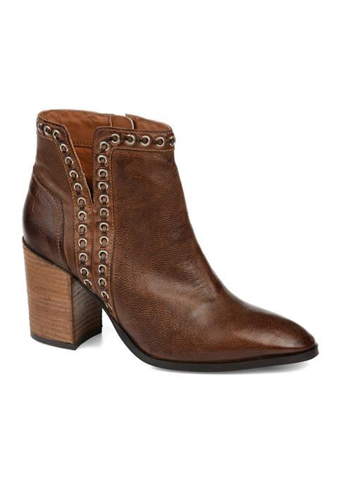 Journee Collection Genuine Leather Jorri Booties