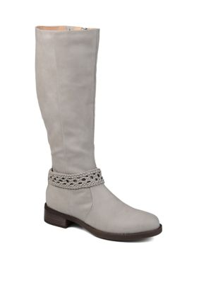 Journee Collection Womens Wide Calf Paisley Boots