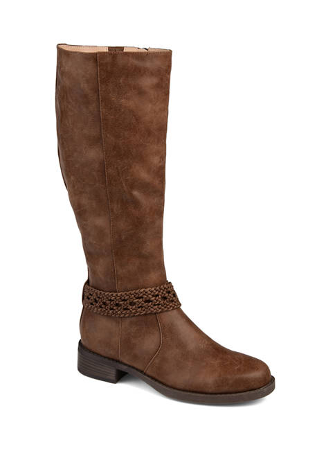 Journee Collection Wide Calf Paisley Boots