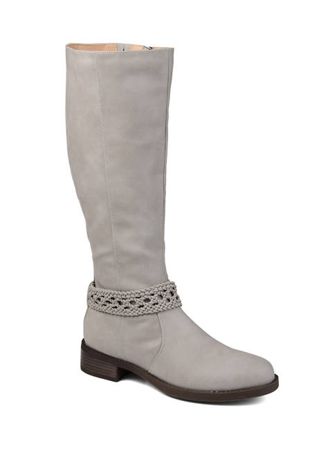 Extra Wide Calf Paisley Boots