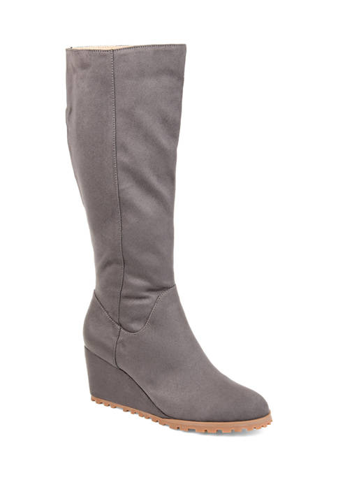 Journee Collection Comfort Wide Calf Parker Boots