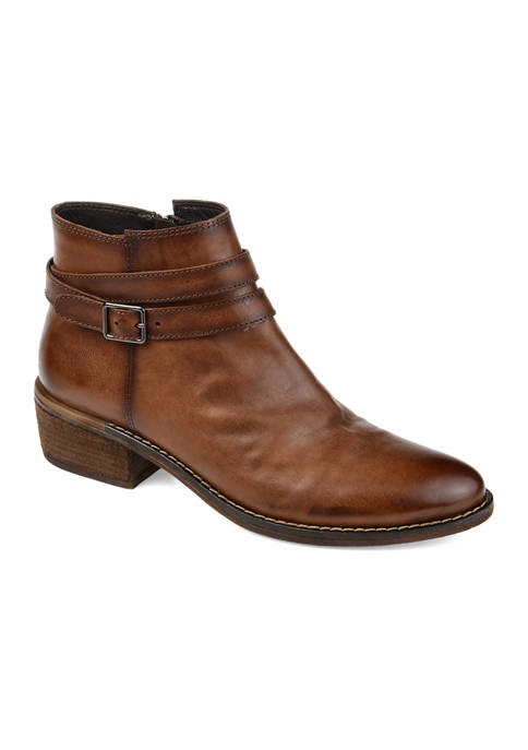 Journee Collection Genuine Leather Rachelle Booties