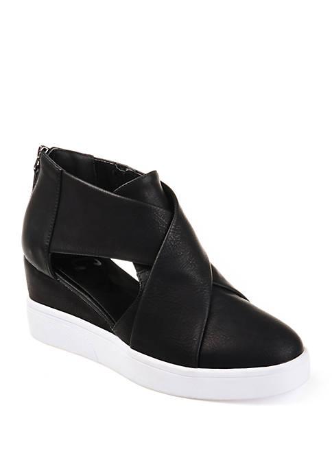 Journee Collection Seena Wedge Sneakers