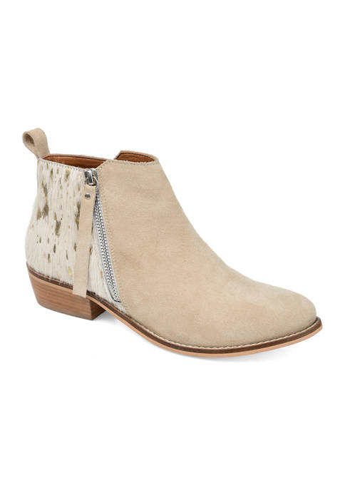 Journee Collection Genuine Leather Shalece Booties